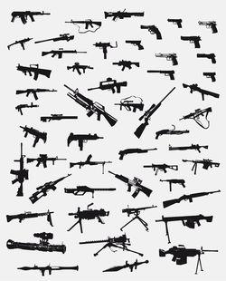 Guns_vector_pack